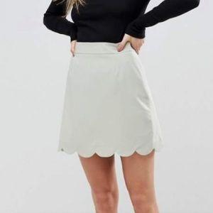 NWT ASOS Scalloped Skirt - Sz 0